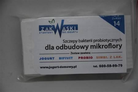 Odbudowa mikroflory Zestaw jogurtów nr 14 - dla odbudowy mikroflory